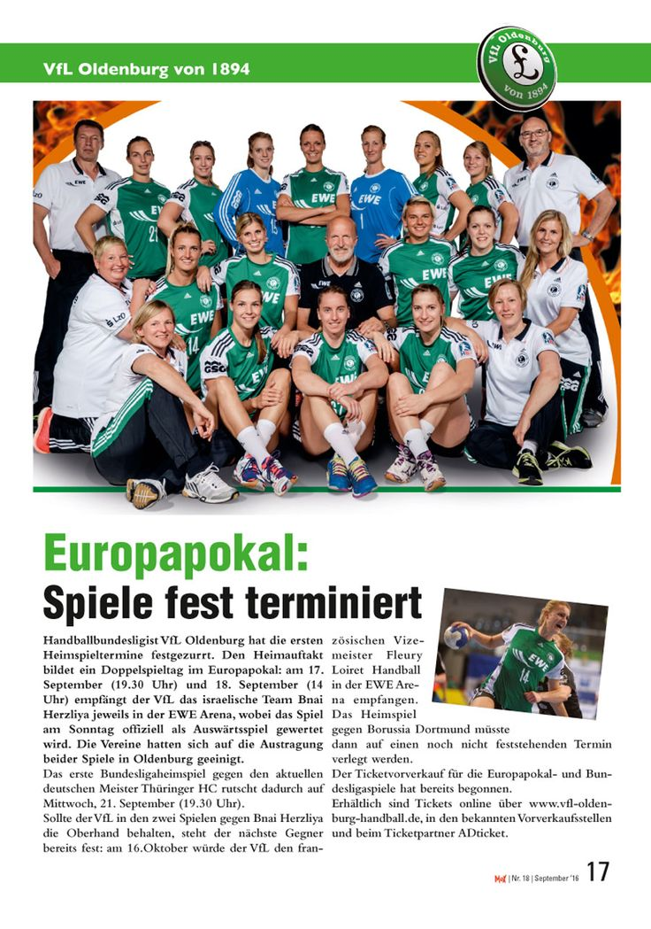 In der neuen MoX findet ihr zweimal oldenburger Spitzensport: Die VfL handballfrauen und die EWE-Baskets-Männer...