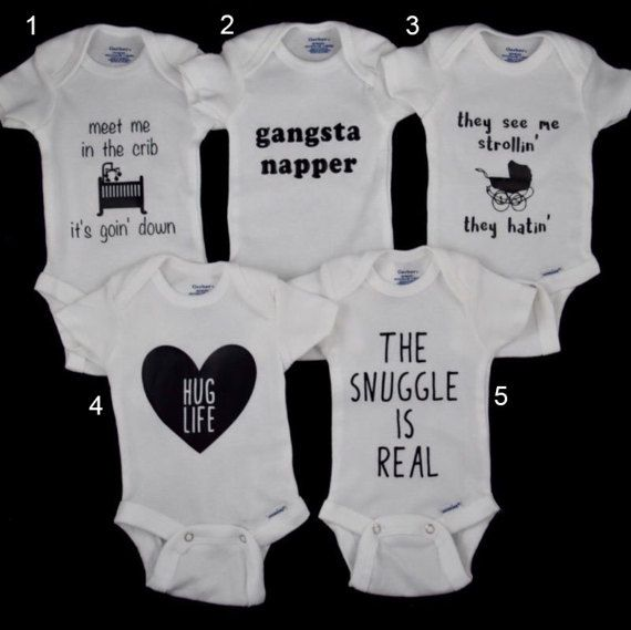 Baby Gerber® Onesies®  Funny Rap Lyrics by CreationsAndConfetti