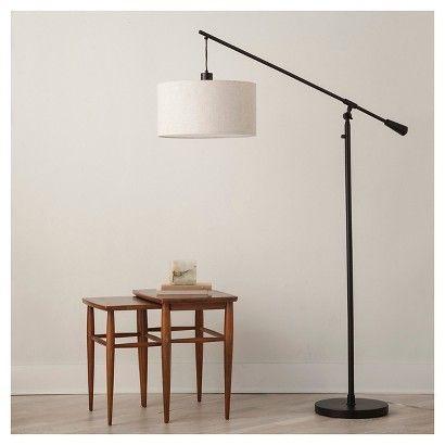 Adjustable drop pendant floor lamp ebony threshold