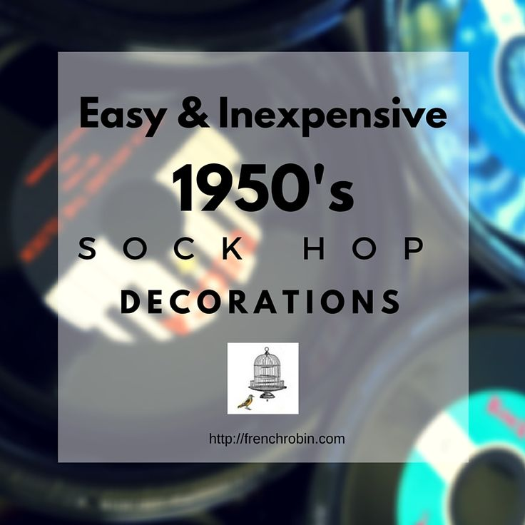 These 1950s decorations are easy and inexpensive. They pack a big wow and party guests will love them! Create a great sock hop atmosphere with these decorations