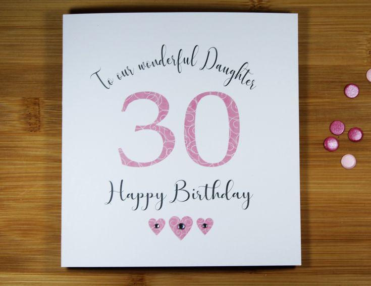 30th birthday card daughter female 30th birthday card
