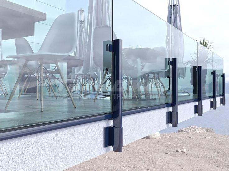 Baranda de escalera en aluminio y vidrio MAIOR COLORS 60 LINE - FARAONE