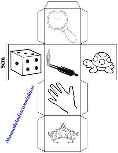 Story cubes caseros modificados para 6 años - cubo 1