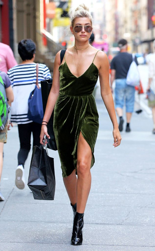 Hailey Baldwin from The Big Picture: Today's Hot Pics  Velvet vixen! The model is spotted shopping in the Soho neighborhood of New York City.