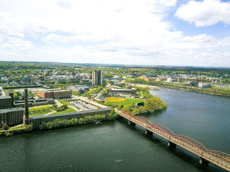 University of Massachusetts-Lowell Campus taken by DJI Mavic Pro [2048 x 1066]