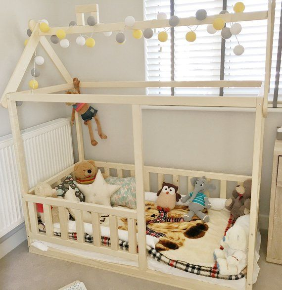 Toddler House Bed Children Bed Montessori Bed Kid Bed Wood Bed