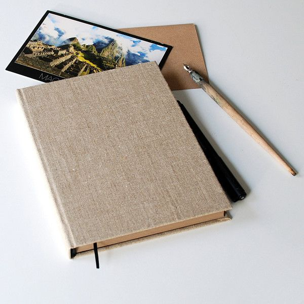 minimalistyczny kalendarz A5 płótno lniane - Kajet - Kalendarze A5