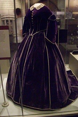 Another infamous dress on display at the Smithsonian that belonged to Mary Todd Lincoln