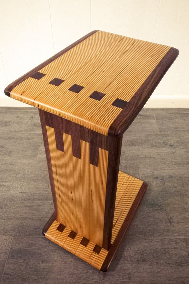 Modern c table made from laminated baltic birch plywood