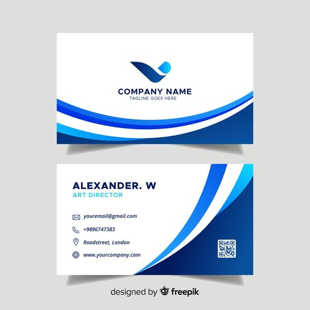 Download Flat Abstract Business Card Template For Free Free Business Card Templates Vector Business Card Free Business Cards
