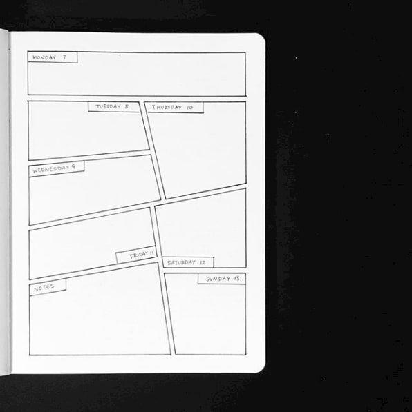 21 Minimalist Bullet Journal Spreads, die so hübsch sind, dass Sie vielleicht laut ausseufzen