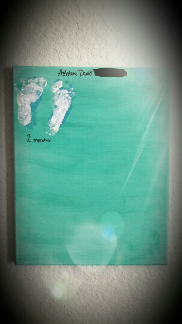 Pinterest project. My first year footprints on canvas. Beware, its extremely messy to attempt if you have a little kickboxer 😂