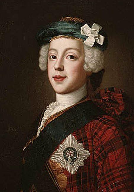 Image result for bonnie prince charlie tartan portrait