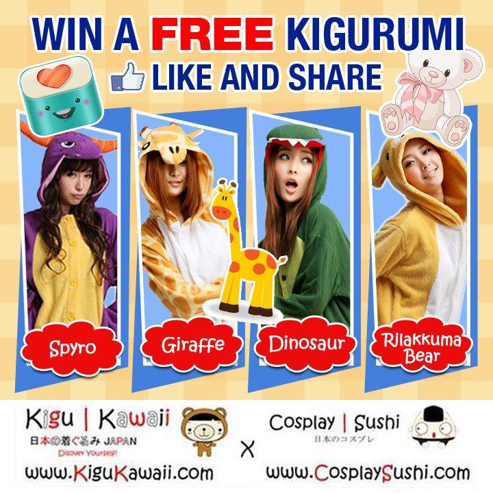 WIN A FREE KIGURUMI ONESIE ON A WINTER SEASON!   Make your winters enjoyable by owning a KIGURUMI for FREE!  Wanna join? Here's how! https://www.facebook.com/photo.php?fbid=204934546363914&set=a.137265316464171.1073741830.137199429804093&type=1&theater  #kigukawaii #cosplaysushi #giveaway #kigurumi #onesie