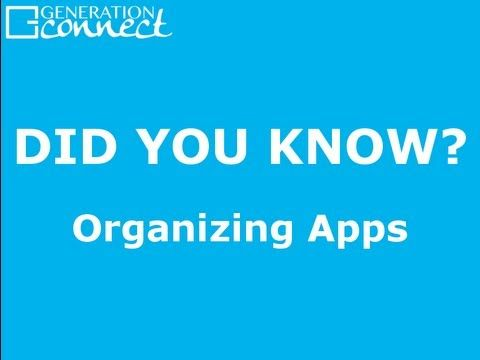 A brief tutorial on how to organize apps on your iOS device, including how to arrange home screens and create folders.