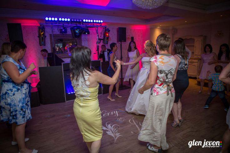 Wedding Disco At The Beaulie Hotel With Wedding Monogram & Uplighting - DJ Martin Lake
