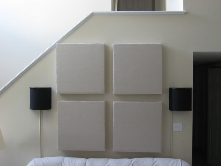 DIY Acoustic Panels Tutorial: I'd use old T-shirts for the fabric.