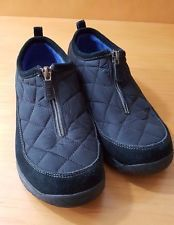 LANDS END Black Slip On Zipper Quilted Bootie Shoe Women 8 B (86524) All Weather in Clothing, Shoes & Accessories, Women's Shoes, Flats & Oxfords | eBay
