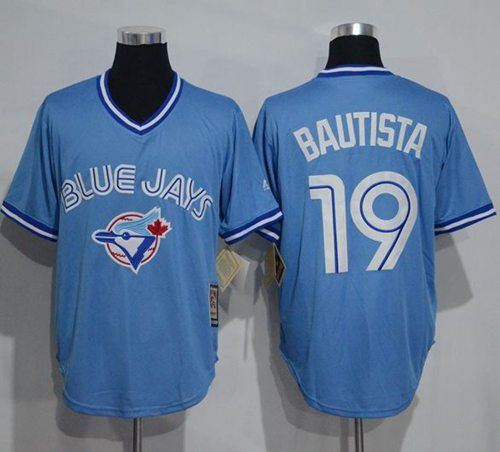 low priced ec13b 77cc1 toronto blue jays 19 jose bautista light blue pullover jersey