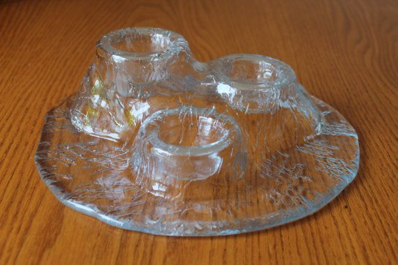 Meri Lasi Volcano Candle Holder  Vintage by campeauscollectables