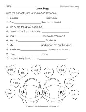 r controlled vowel worksheets for third grade vowel worksheets have fun teachingshort for. Black Bedroom Furniture Sets. Home Design Ideas