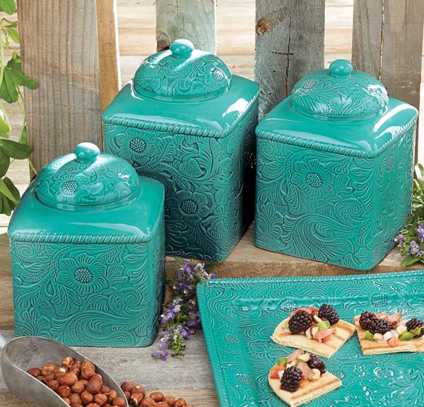 Western Canisters for a Cowgirl's Kitchen