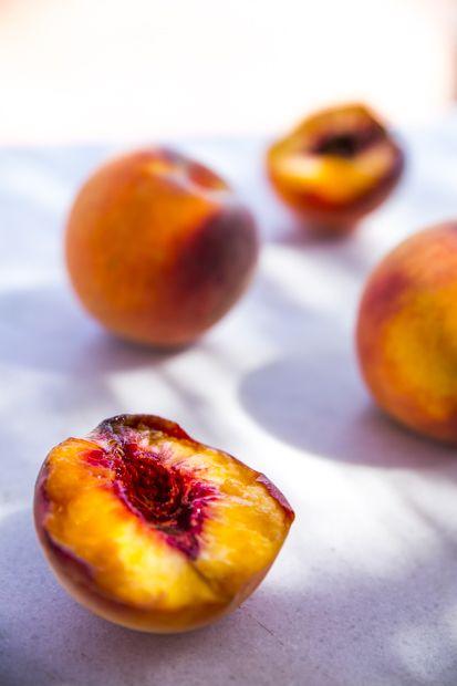 Sant P'au D'ordal peaches. Best ever!! http://www.jotainmaukasta.fi/2014/10/21/penedes-top-5/
