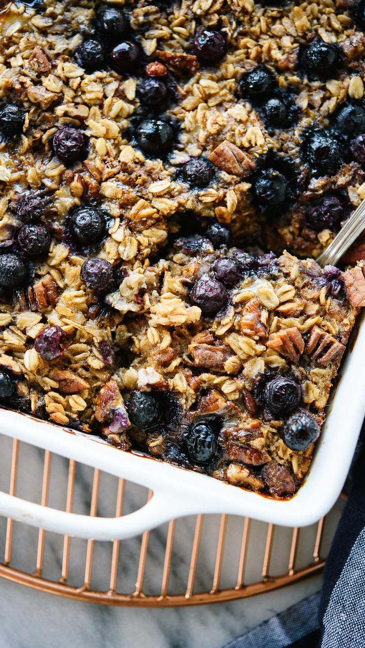 With this healthy baked oatmeal recipe, you can make one batch and enjoy baked oatmeal for the rest of the week! http://cookieandkate.com