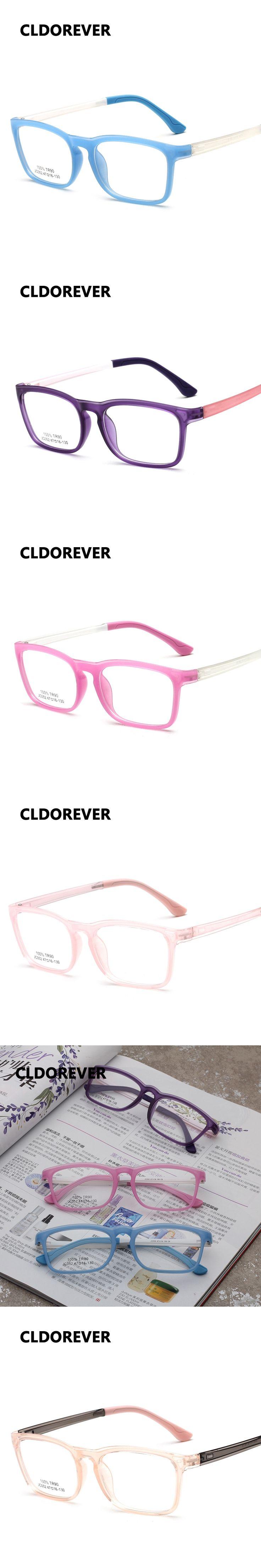 Fashion 2017 TR90 Children Optical Glasses Frame Ultralight Kids Eyeglasses Square Eyeglass Frames Boys Girls Transparent Glass