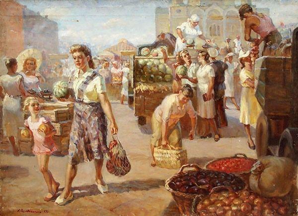 dmitrie.lyudmi — «Чередниченко А. На базаре.1947» на Яндекс.Фотках