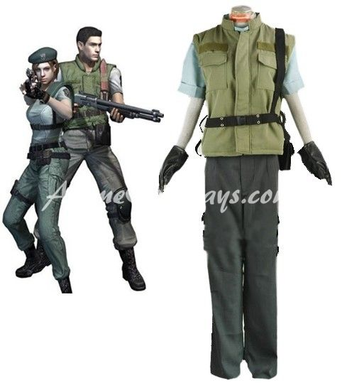 Resident Evil 1 Chris Redfield S.T.A.R.S. Uniform Cosplay Costume,Resident Evil Cosplay Costume,Anime Cosplay Costume