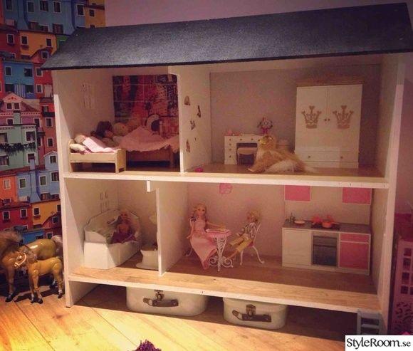 Det var en gång...    En liten flicka som heter Nellie och är 2 år. Hon bor med sin mamma och pappa och syskon i villa och har ett litet flickrum med sagodjurstema. I rummet bor det även dockor och nallar och finns det plats för både lek och mys. Kulörerna  går i vitt, rosa, puderrosa, beige och ...