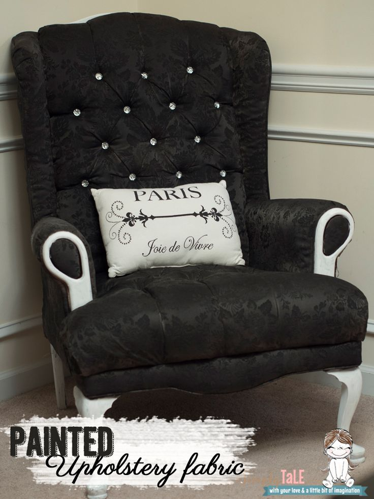 Ordinary Spray Painting Upholstered Furniture #7: Fabric Paint, Fabric Spray Paint, How To Paint Fabric, Wing Back Chair, Upholstery