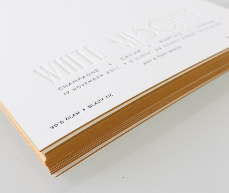 gold painted edge
