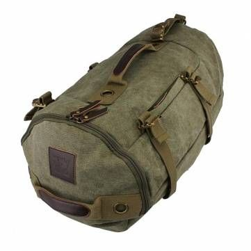 Dual-use Mens Canvas Bags Casual Khaki Backpacks Best Men's Hiking Backpack - US$33.60