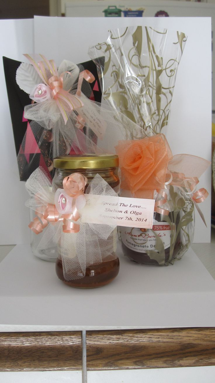 Cute wedding favour ideas include pomegranate jam, Siziphus honey and mini chocolate dreams... at Fruit of the Land Promenade store
