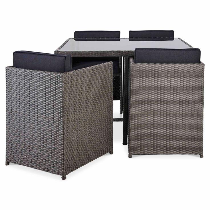 Karaya Rattan Effect 4 Seater Dining Set Departments
