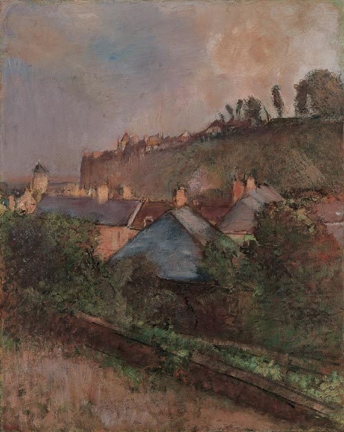 Edgar Degas. Houses at the Foot of a Cliff, c.1895-98.