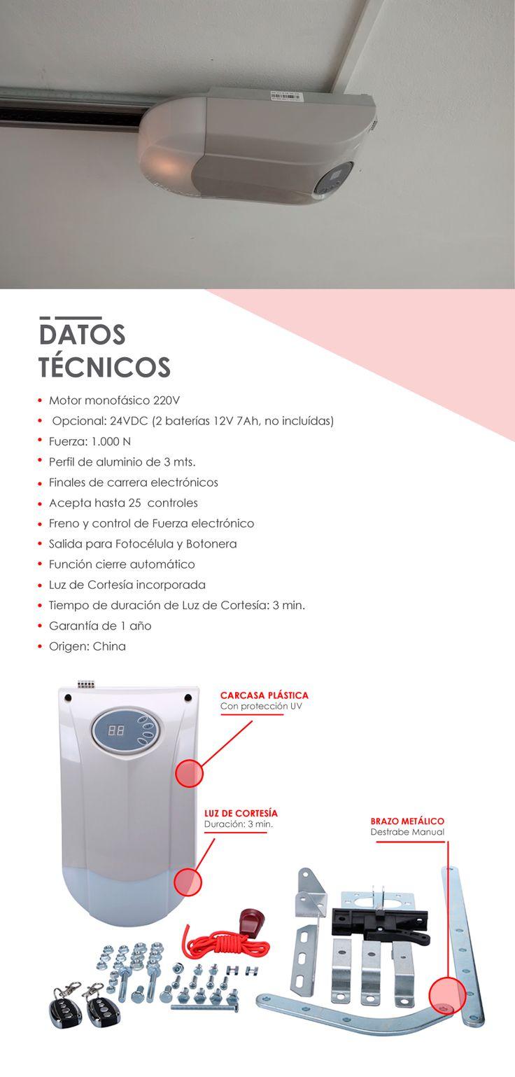 Motor Para Portón Levadizo A Resorte Y Seccional - $ 6.400,00