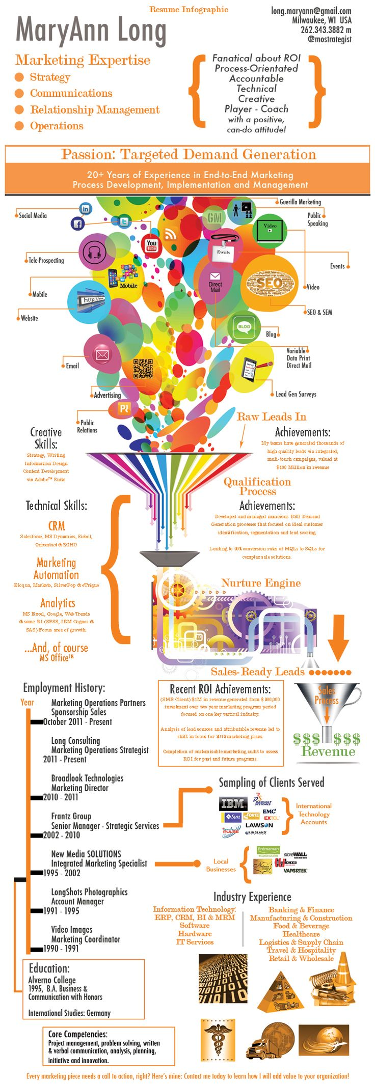Infographic Resume - Mary Ann Long - Infographic design