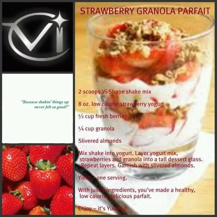 Body By Vi 90 day Challenge: Vi Recipe, Visalus Shakes Recipe, Perfect Granola, Strawberries Granola, Weightloss, Bodybyvi, Weights Loss, Vi Shakes, Healthy Life