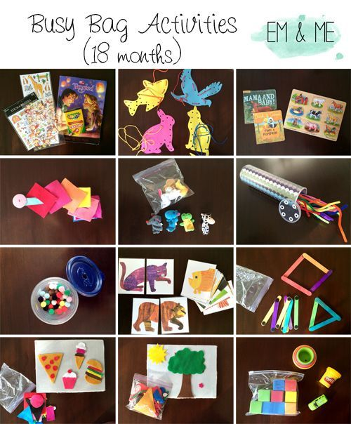 em & me: Mama Monday: Busy Bags activities 18 months
