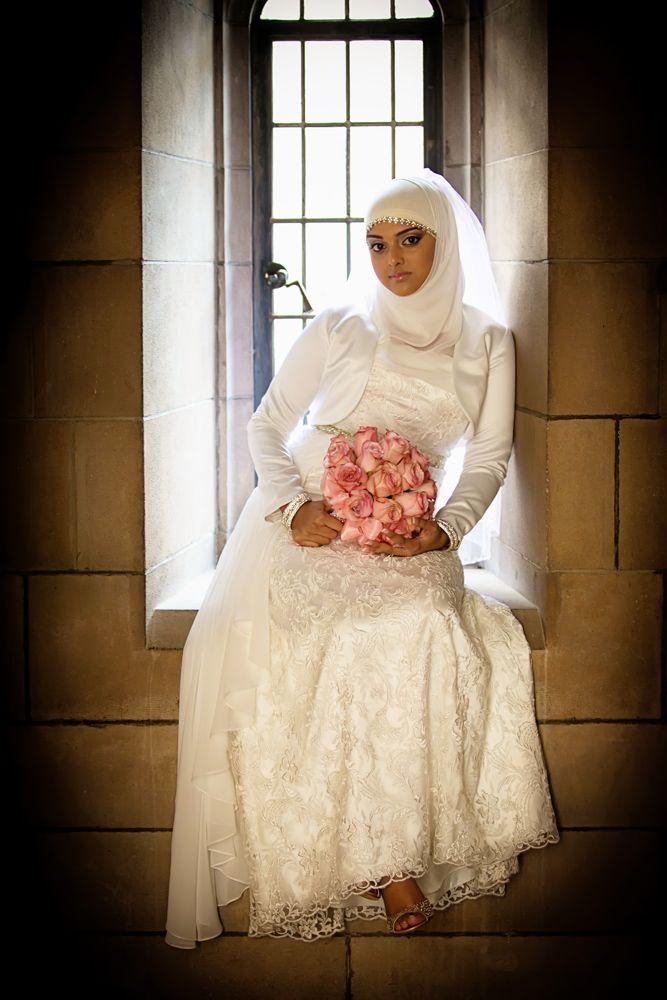 white dress + hijabi - Beautiful Muslim Post Wedding by Engaging Images