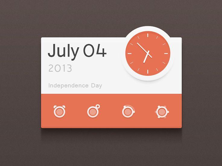 Calendar and clock widget