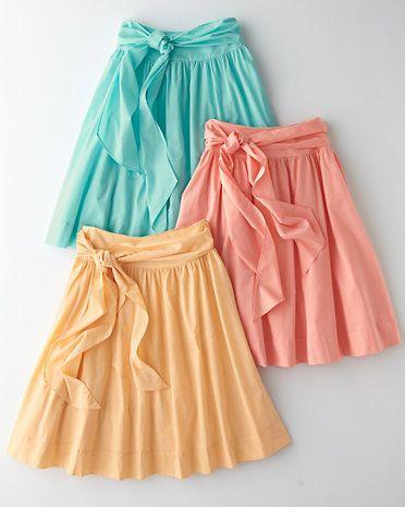High-waisted skirts