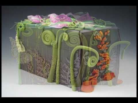 AWESOME VIDEO!! Linda Garbe creates a box covered with polymer clay. The project is an exercise in learning about color and was inspired by heritage gardens.
