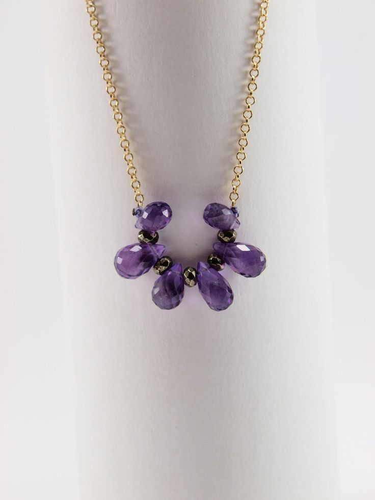 Amethyst Drops by HippieChicJewelryAth on Etsy