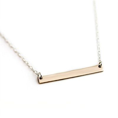 Upper Metal Class® Bar Necklace Bronze