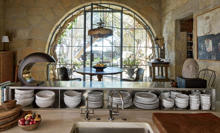 Peek Inside Ellen DeGeneres's Stunning Santa Barbara Villa - THE KITCHEN - from InStyle.com