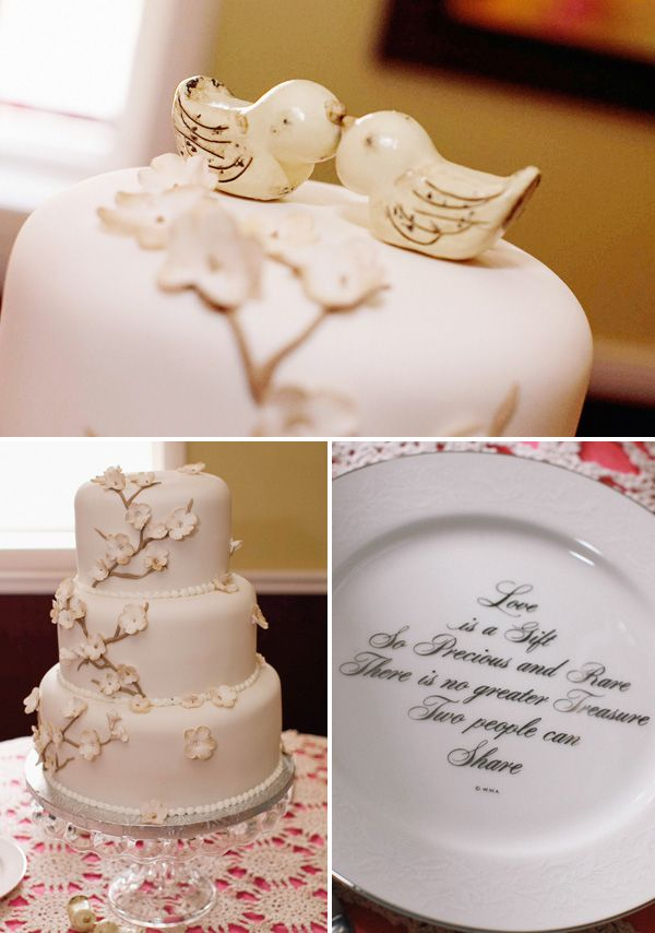 cute birdie cake toppers and great cake plate! & 34 best Cake Toppers images on Pinterest | Cake toppers Wedding ...